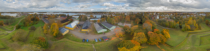 The Fortress of Lappeenranta in autumn colors