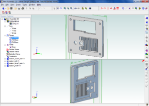 Front panel in CAD