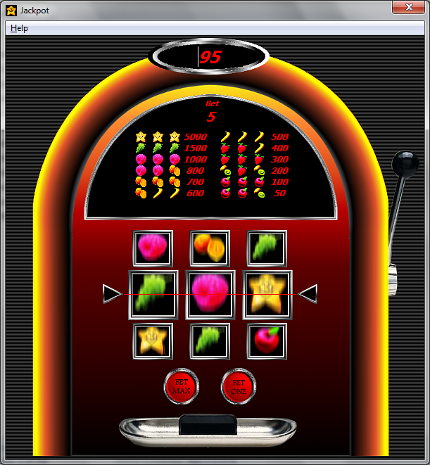 Jackpot, a slot machine game, 2005