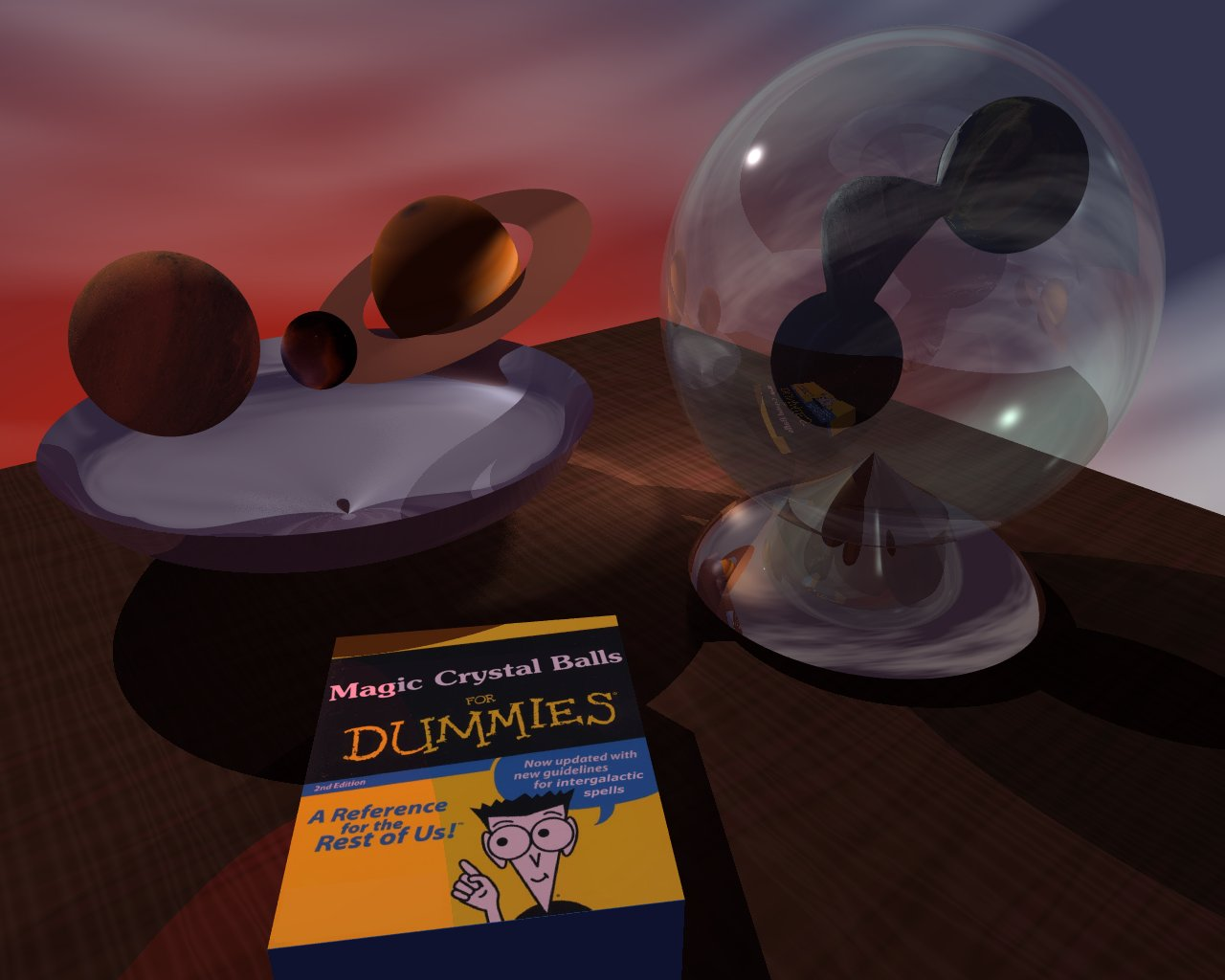 Magic crystal balls for dummies, Povray, 2005