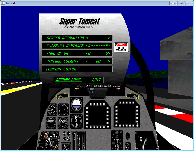 Super Tomcat, a flight simulator, 1998-2001