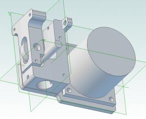 3D model of the print head